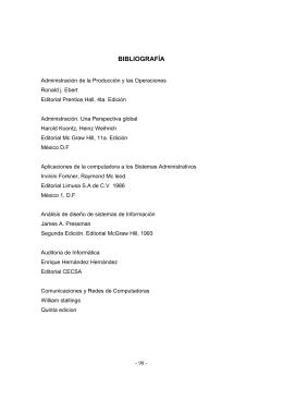 BIBLIOGRAFÍA - Universidad Francisco Gavidia