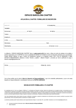 DOCUMENTO AFILIACIÓN AL CHAPTER