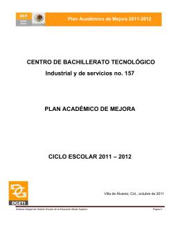 Plan Académico de Mejora 2011-2012
