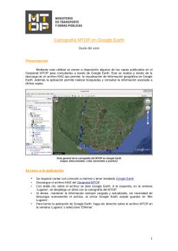 Guía de uso para cartografía en Google Earth