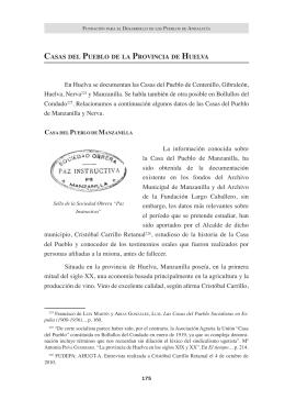 Casas del Pueblo de la provincia de Huelva