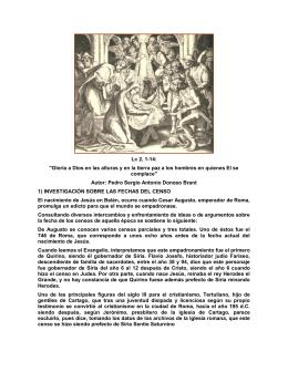 Misa de Medianoche del 24 de diciembre. San Lucas 2, 1-14