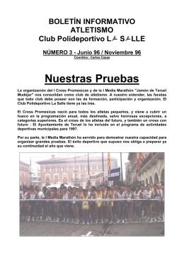 Boletín nº 3 - atletismo La Salle