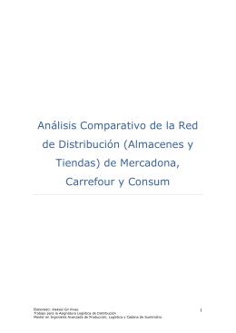 Análisis Comparativo de la Red de Distribución (Almacenes y