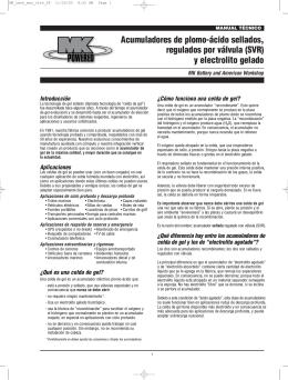 Acumuladores de plomo-ácido sellados, regulados por