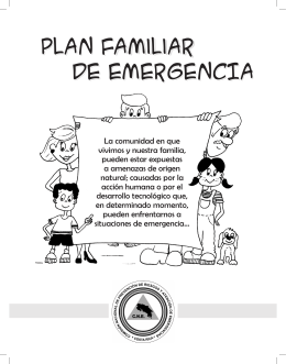 PLAN familiar DE EMERGENCIA PLAN Familiar DE