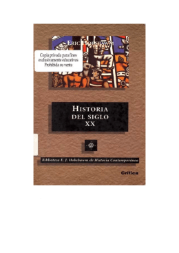 Hobsbawm, Eric, Historia del Siglo XX