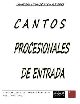 CANTORAL LITURGICO CON ACORDES
