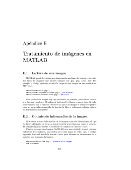 Tratamiento de imágenes en MATLAB
