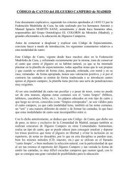 Codigo Jilguero Campero y normas de enjuiciamiento (Hnos