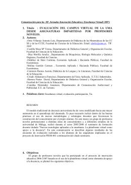 1. Título : EVALUACIÓN DEL CAMPUS VIRTUAL DE LA UMA