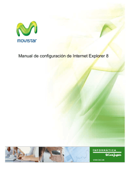 Manual de configuración de Internet Explorer 8