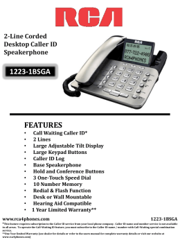 Spec Sheet - RCA Phones For Home