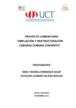 ampliación y restructuración cabañas comuna convento