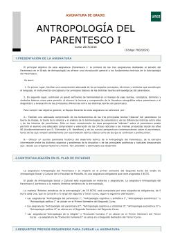 ANTROPOLOGÍA DEL PARENTESCO I