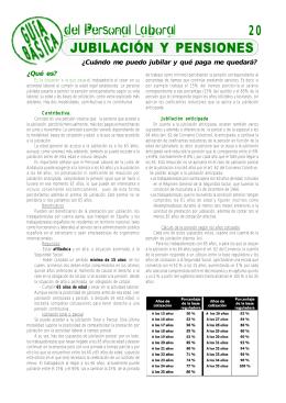 20 JUBILACIÓN Y PENSIONES