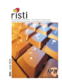 RISTI – Revista Ibérica de STI, Nº 1 0