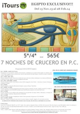 565€ 7 NOCHES DE CRUCERO EN P.C.