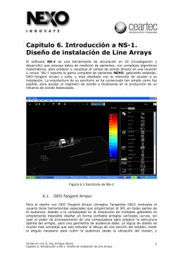 Capitulo 6. Introducción a NS-1. Diseño de instalación de Line Arrays