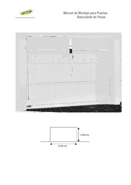 Manual de Montaje para Puertas Basculante de Pesas
