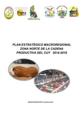 PLAN ESTRATEGICO MACROREGIONALNORTE DE LA CADENA