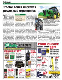 Tractor series improves power, cab ergonomics
