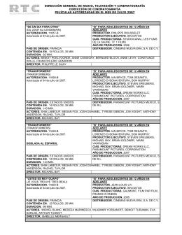 Julio 2007 - Dirección General de Radio, Televisión y Cinematografía