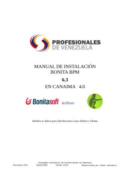 manual de instalación bonita bpm 6.3 en canaima 4.0