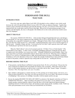 Ferdinand the Bull Study Guide