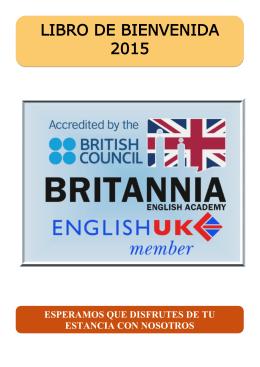 LIBRO DE BIENVENIDA 2015 - Britannia English School