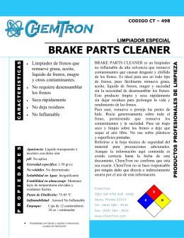 brake parts cleaner limpiador especial