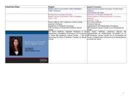 1 PowerPoint Slides English Spanish Translation Breast Cancer