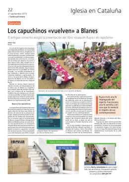 Los capuchinos «vuelven» a Blanes