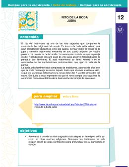 RITO DE LA BODA JUDIA - Fundación Pluralismo y Convivencia