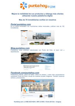 Portal puntahoy.com Blog.puntahoy.com Facebook.com/puntahoy.com