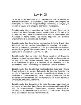Ley 64-05