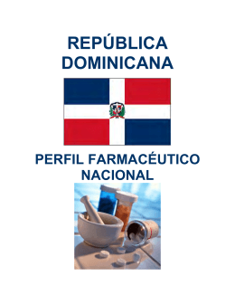 Perfil Farmacéutico de la República Dominicana