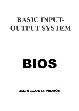 ¿Qué es la BIOS?