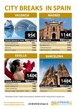 140€ 95€ 148€ 114€ - Aquatravel Spain DMC and Incoming Services
