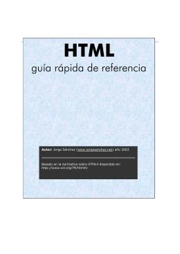 Manual rápido de HTML