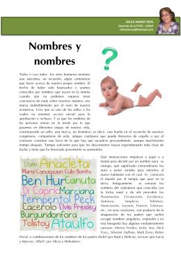 Nombres y nombres - Selva E. Morey Ríos