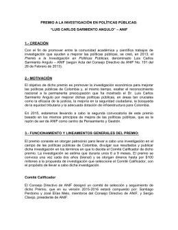 Premio a la Investigación en Políticas Públicas Luis Carlos
