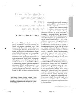 Los refugiados ambientales y sus consecuencias en el futuro