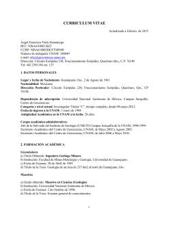 C. V - Centro de Geociencias ::.. UNAM
