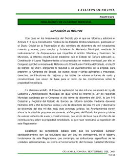 Reglamento de Catastro Municipal