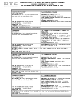 Noviembre 2005 - Dirección General de Radio, Televisión y