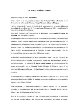 EL NUEVO DISEÑO ITALIANO - Centro Cultural Palacio La Moneda