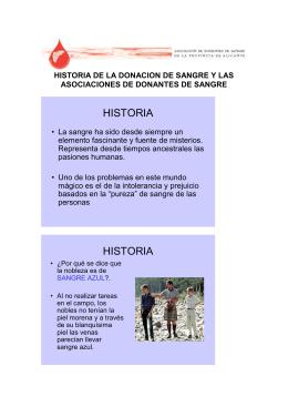 HISTORIA HISTORIA - Asociación de Donantes de Sangre de Alicante