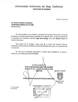 curriculum vitae - Secretaría General