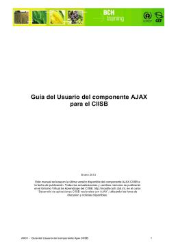 Guía del Usuario del componente AJAX para el CIISB